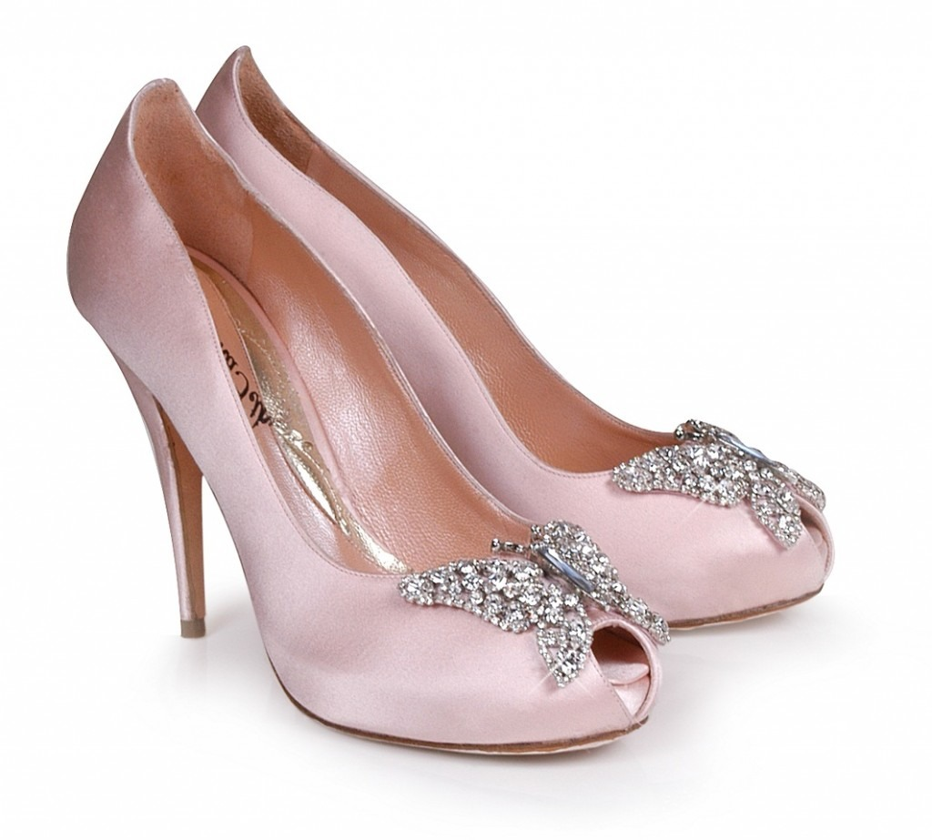 Aruna Seth Farfella Butterfly Shoes - Bridal Pale Pink