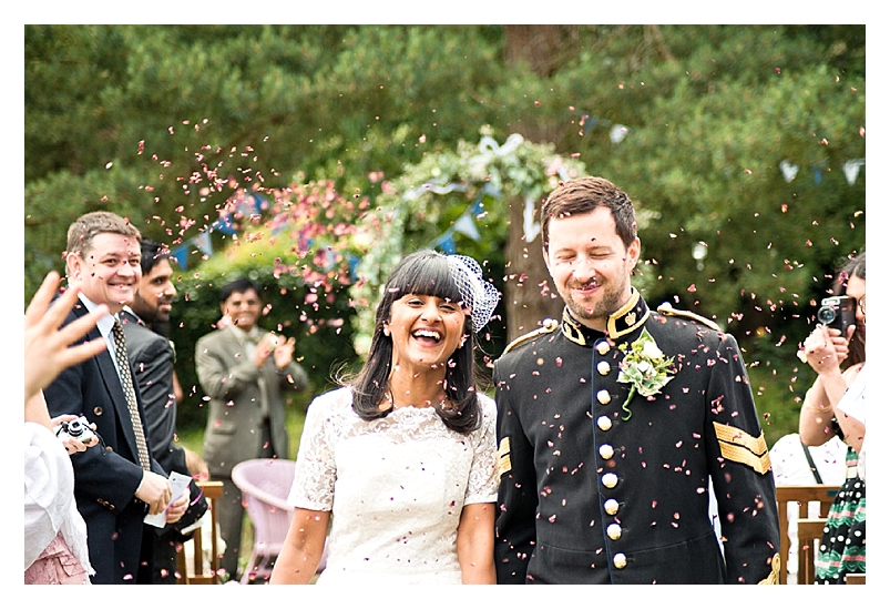 An uber cool vintage tea party wedding with a touch of festival and a dash of theatricality