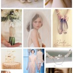 Nude, Ribbons & Lace Bridal Inspiration Moodboard