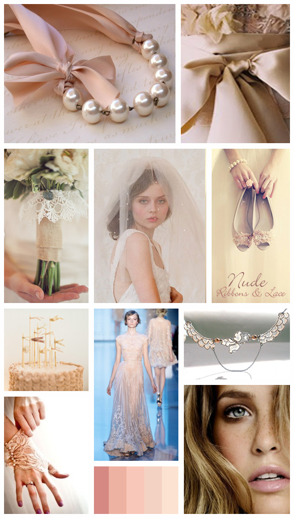 Nude, ribbons & lace | wedding inspiration