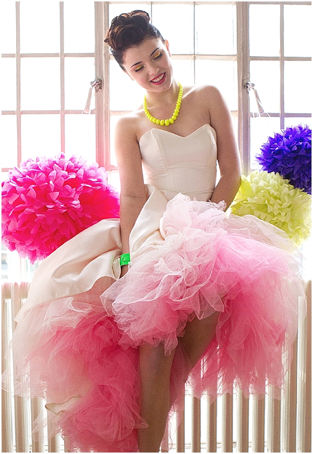 Neon Colored Wedding Dresses