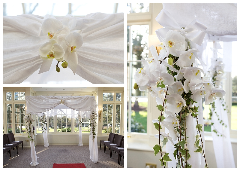 A beautiful jewish liberal wedding ceremony with white orchids