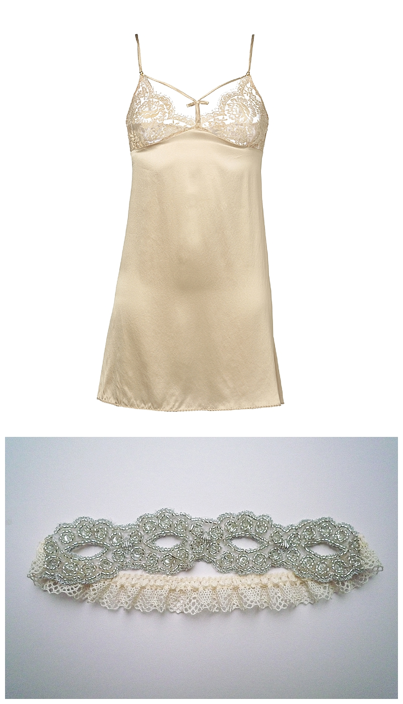 Fox & Rose- Shell Bell Couture- Tease Cream Chemise- £132