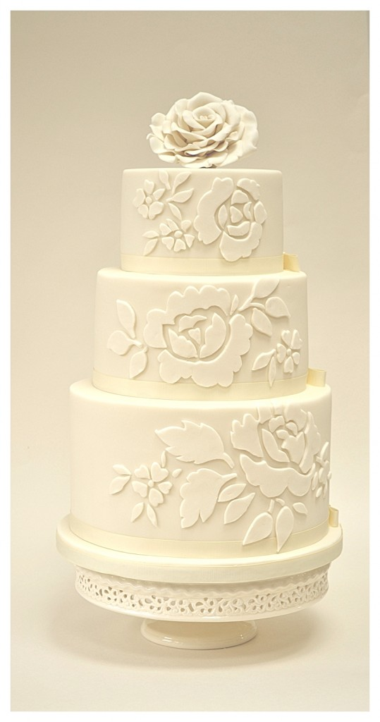 Ivory Rose 3 Tier