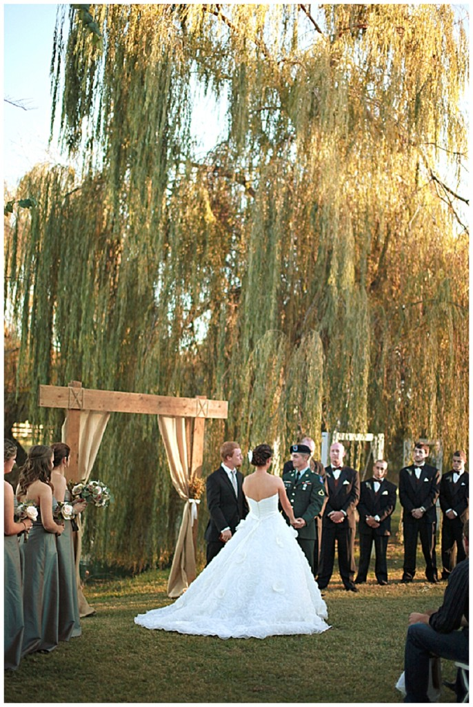 A romantic and dreamy, outdoor military wedding...