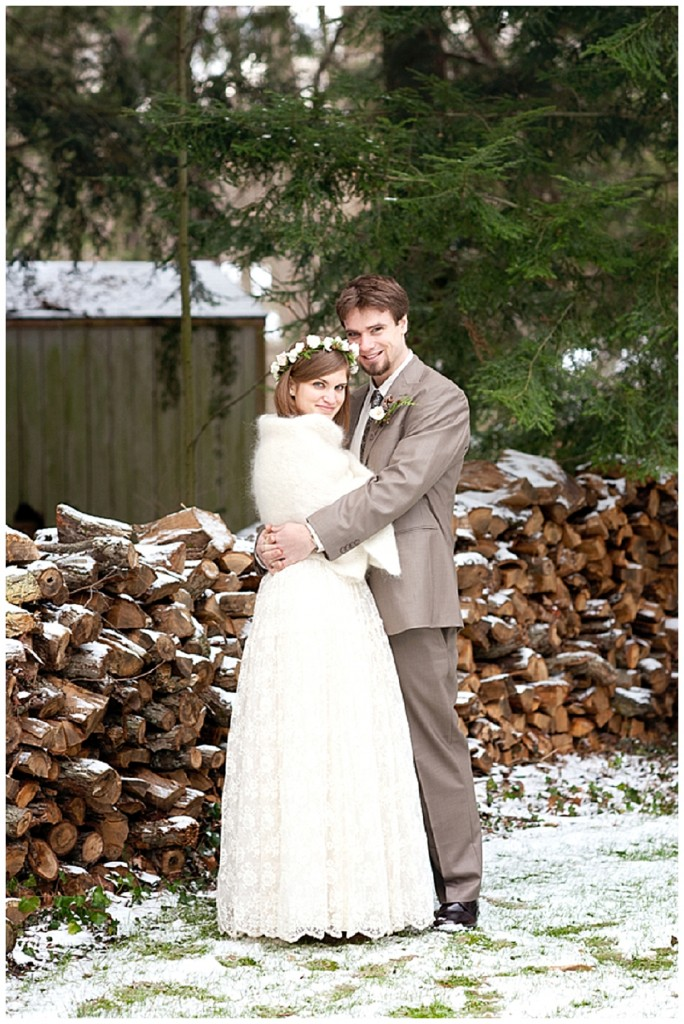 A rustic, vintage, winter wedding