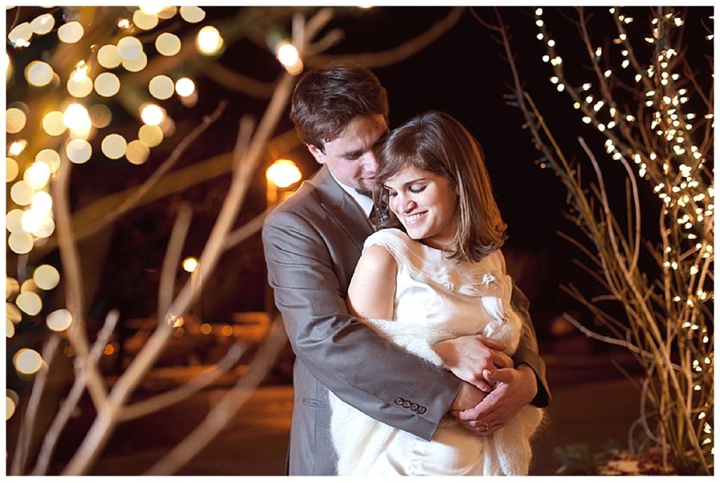 A rustic, vintage, winter wedding