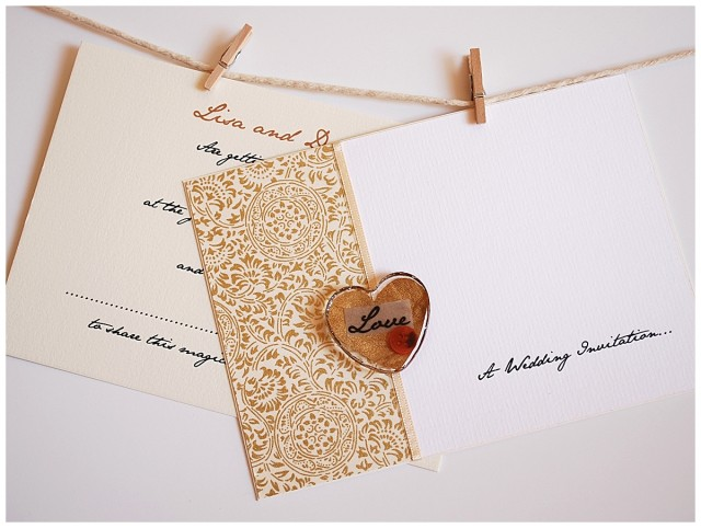 Love Charm Gold wedding stationery ~ little jem