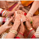 A vibrant, colourful and joyful hindu, indian wedding...