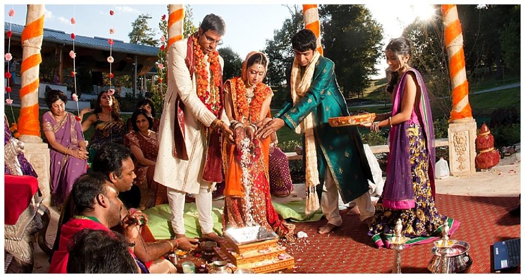 A vibrant, colourful and joyful hindu, indian wedding...