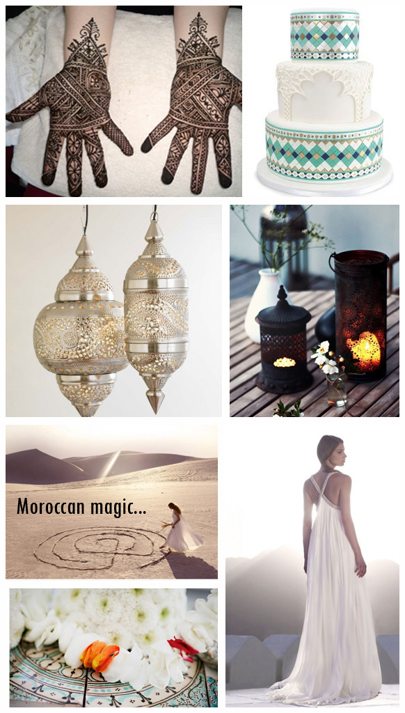 So this first mood board is beautiful paired down Moroccan chic
