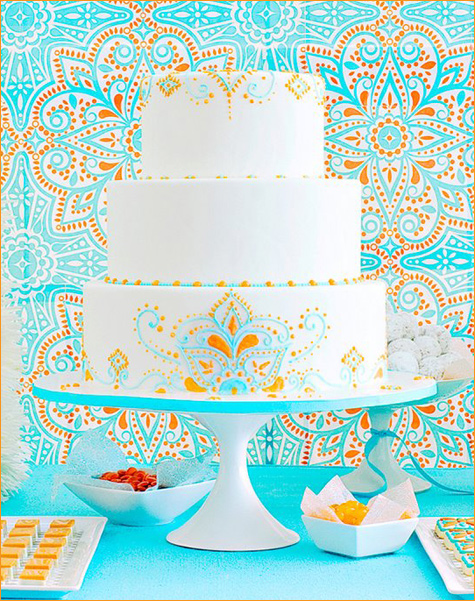 Modern Moroccan wedding dessert table inspiration