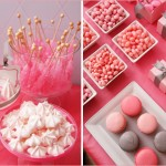 Grey, pink & reaspberrywedding dessert table inspiration