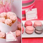 Grey, pink & reaspberry wedding dessert table inspiration