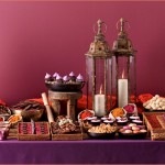 Moroccan spice wedding dessert table inspiration