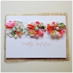 flowers and pearls wedding stationery ~ little jem