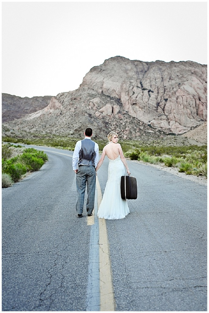A rockin' USA ghost town trash the dress