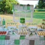 Rustic ~ Pea Green Wedding Dessert Table INspiration