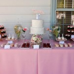 Rustic Pink Wedding Dessert Table INspiration