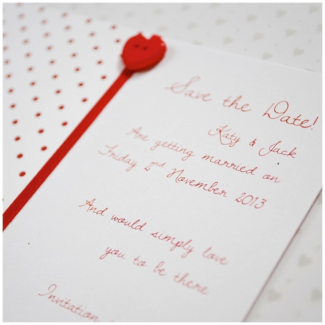 shiny red love hearts wedding stationery Want That Vendor: Little Jem | Wedding Stationery - Want That Wedding ~ A UK Wedding Inspiration & Wedding Ideas Blog