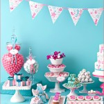 Turquoise & Raspberry Vintage Wedding Dessert Table INspiration