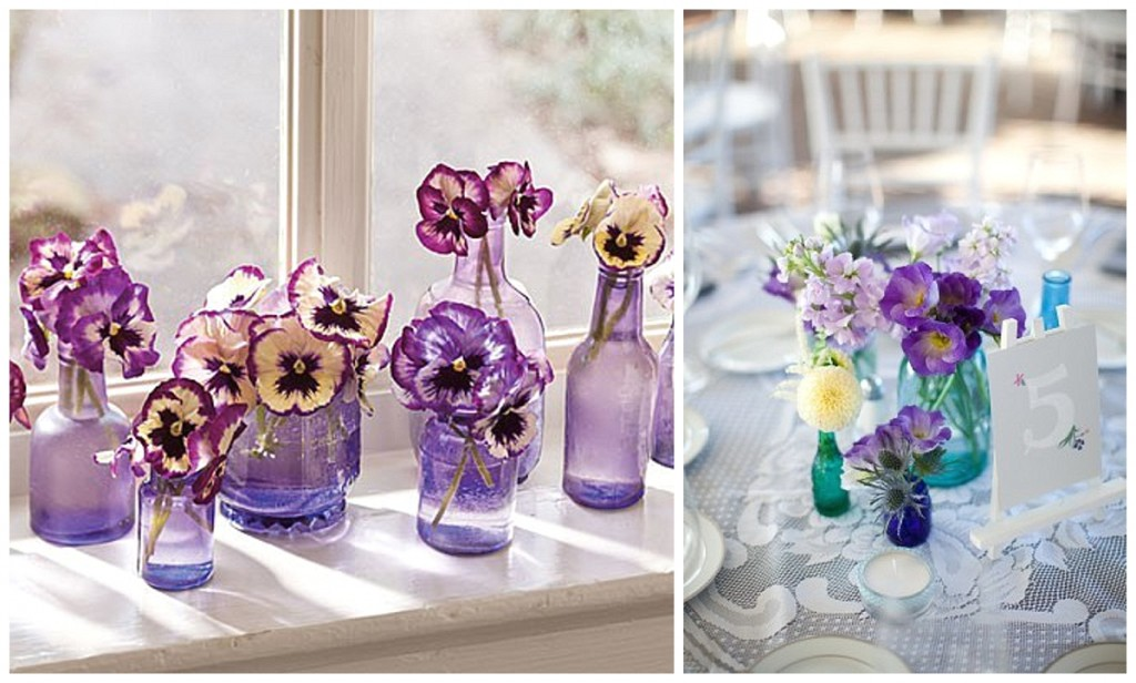 Pretty little bottles ~ wedding decor ideas