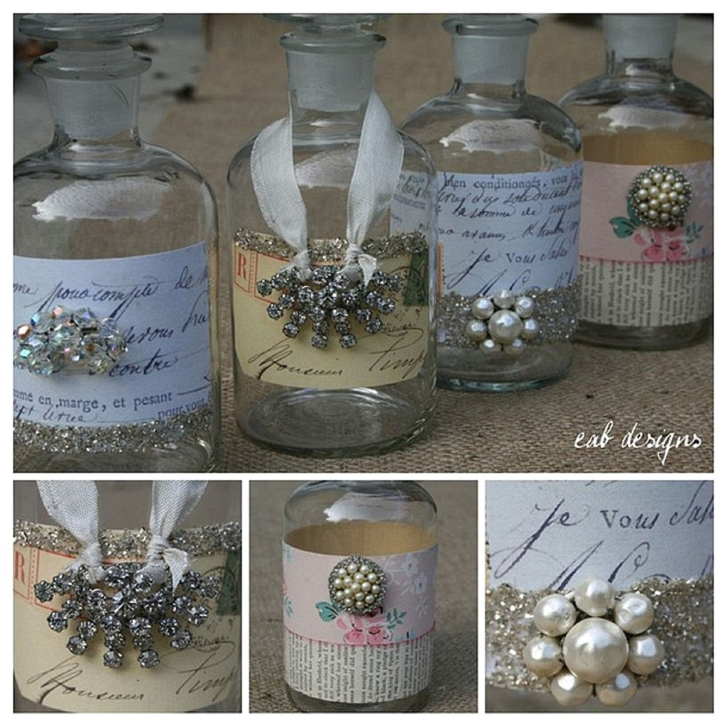 Pretty Little Bottles   Wedding Decor Ideas