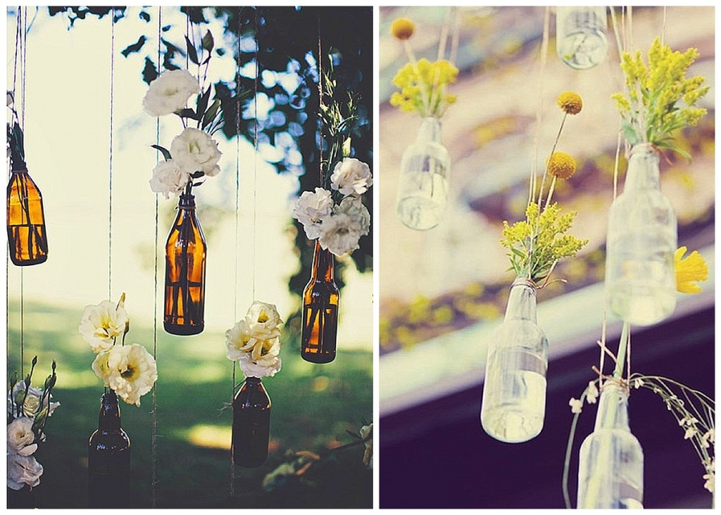 Pretty little bottles | wedding decor ideas - Want That Wedding ~ A UK & International Wedding Blog