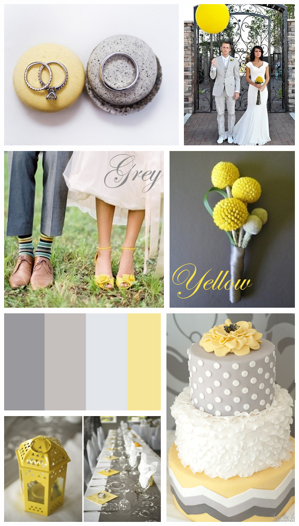 Grey & Yellow: Wedding Inspiration