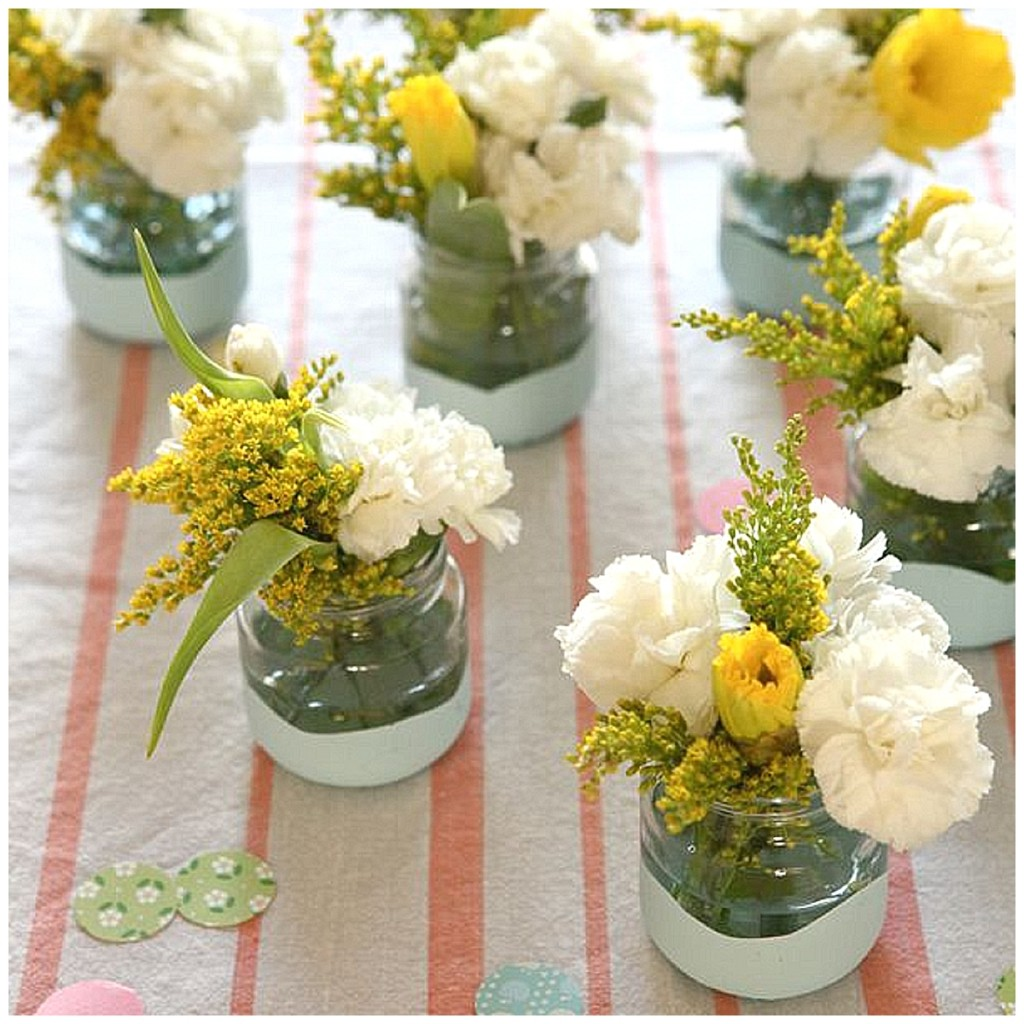 DIY flower jars | wedding ideas