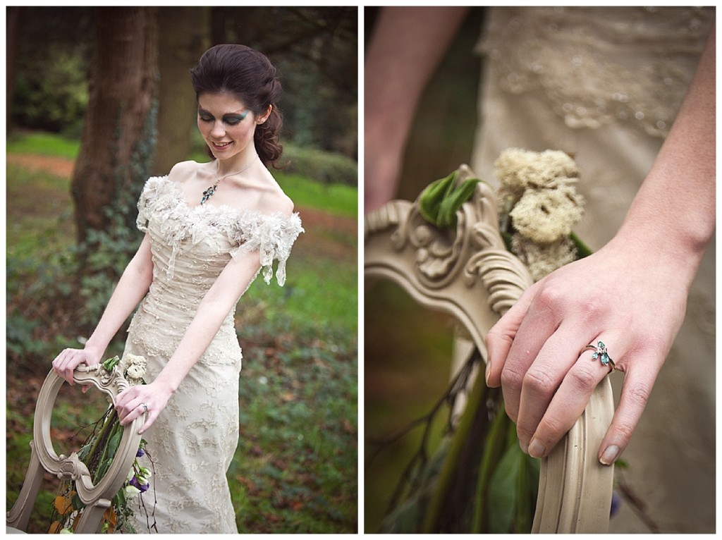 A wonderfully whimsical woodland styled bridal shoot...