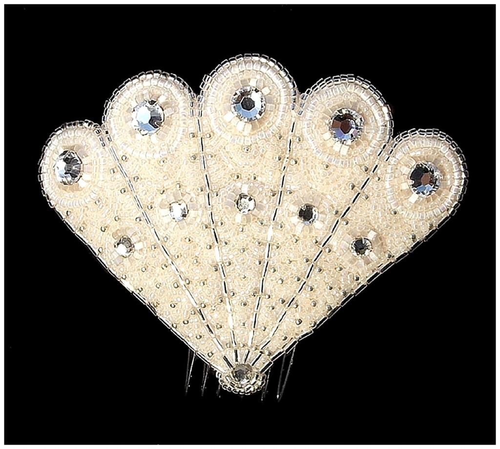 Luxury Fan Comb ~ rose Garden Accessories