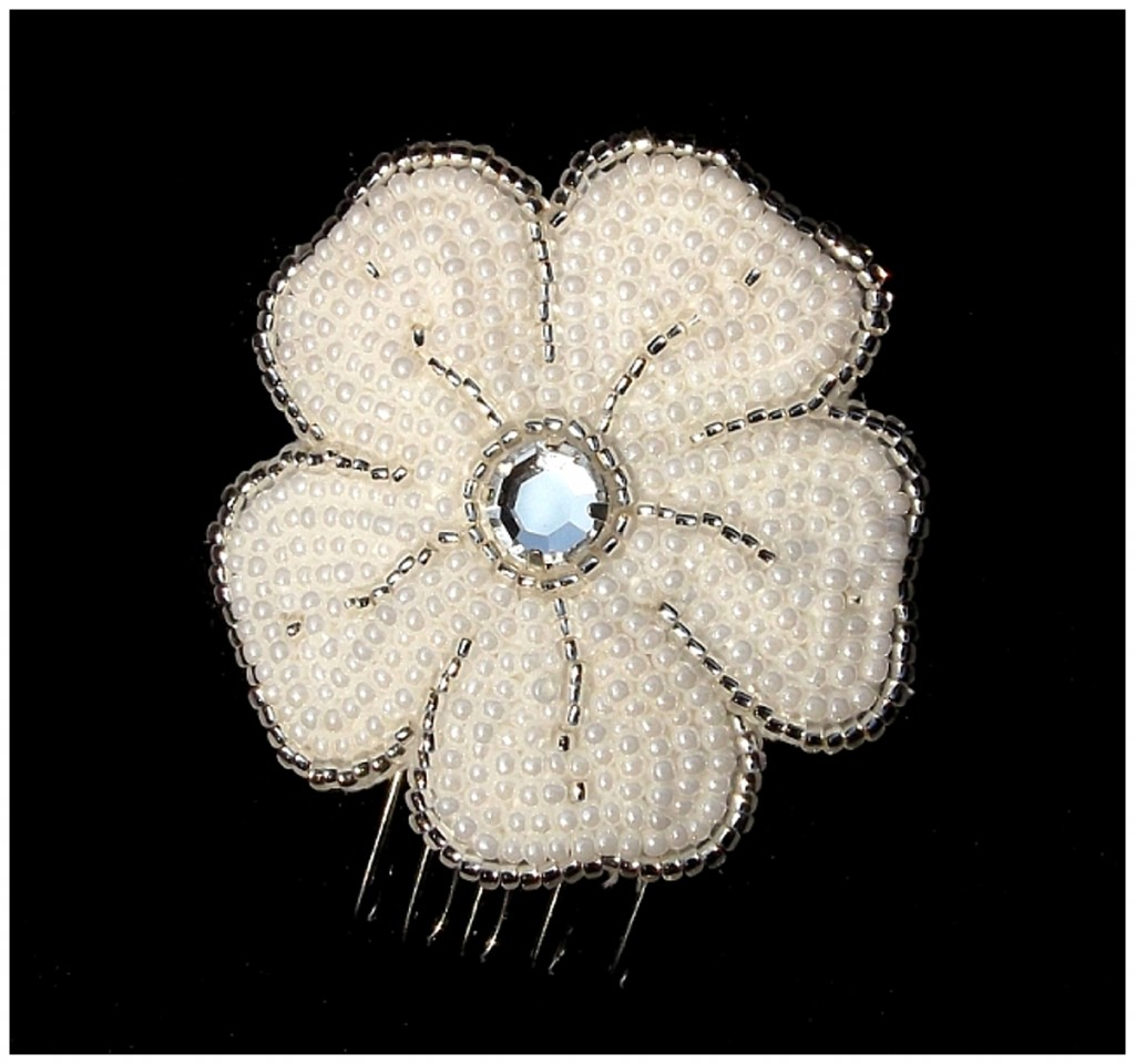 Luxury Small Flower Comb ~ Rose Garden Accessories