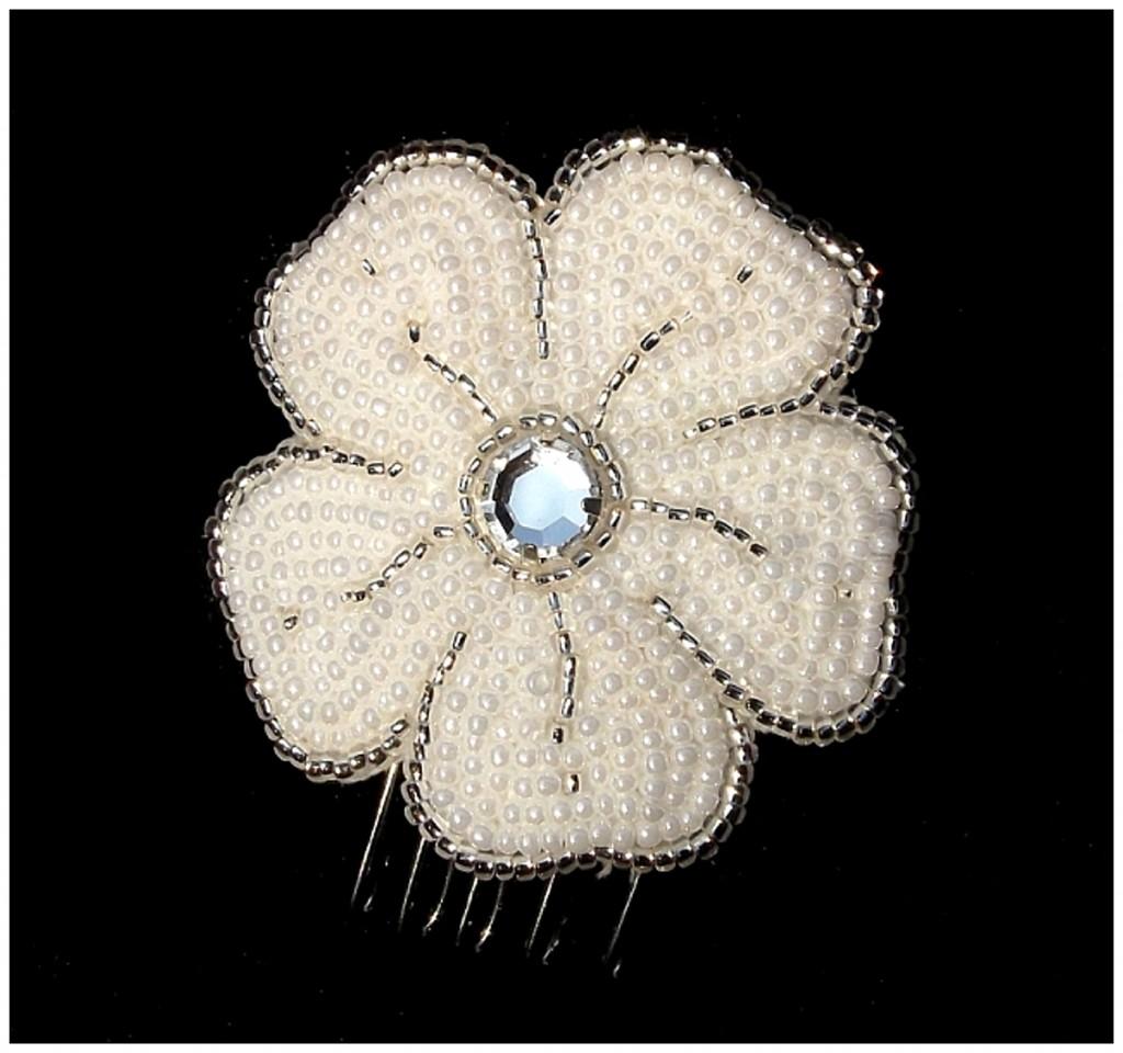 Luxury Small Flower Comb ~ Rose Garden Accessories