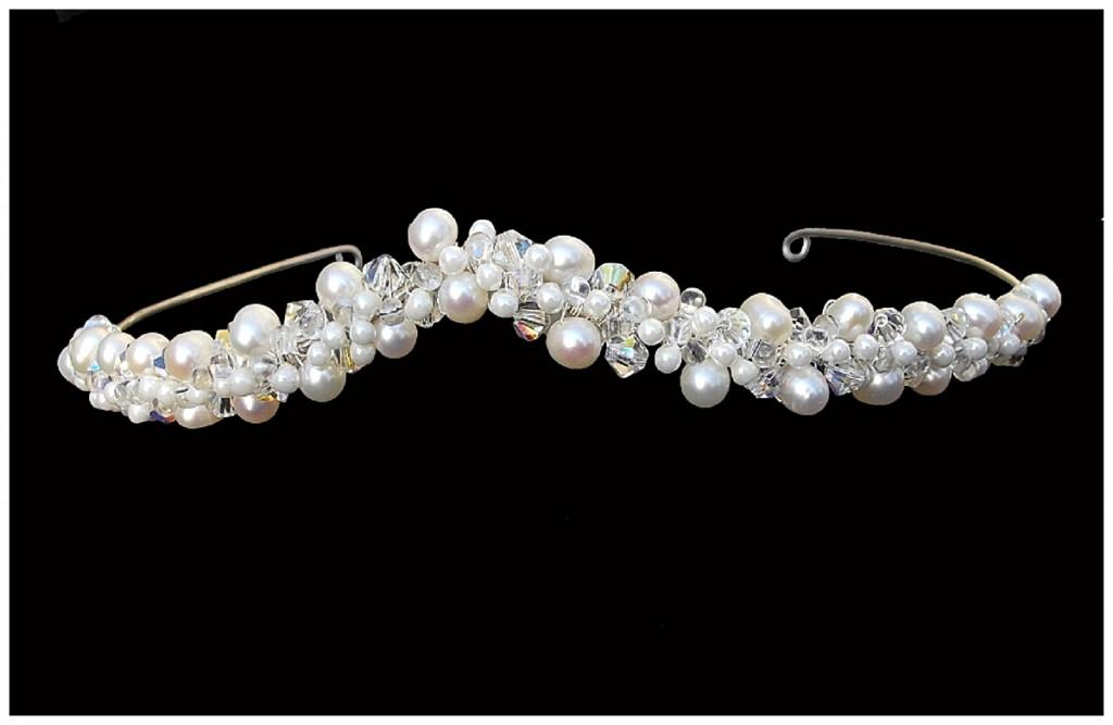 Pearl Wishbone Tiara ~ Rose Garden Accessories
