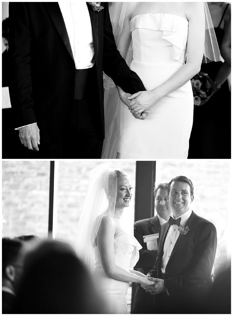 A black, white & ivory elegant winter wedding