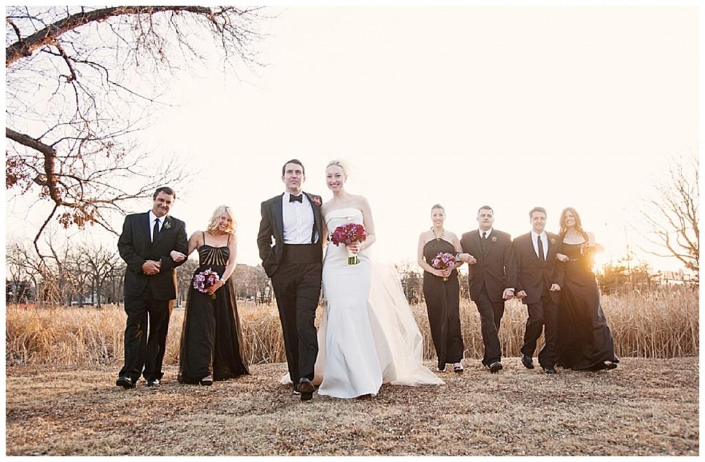 A black, white & ivory elegant winter wedding