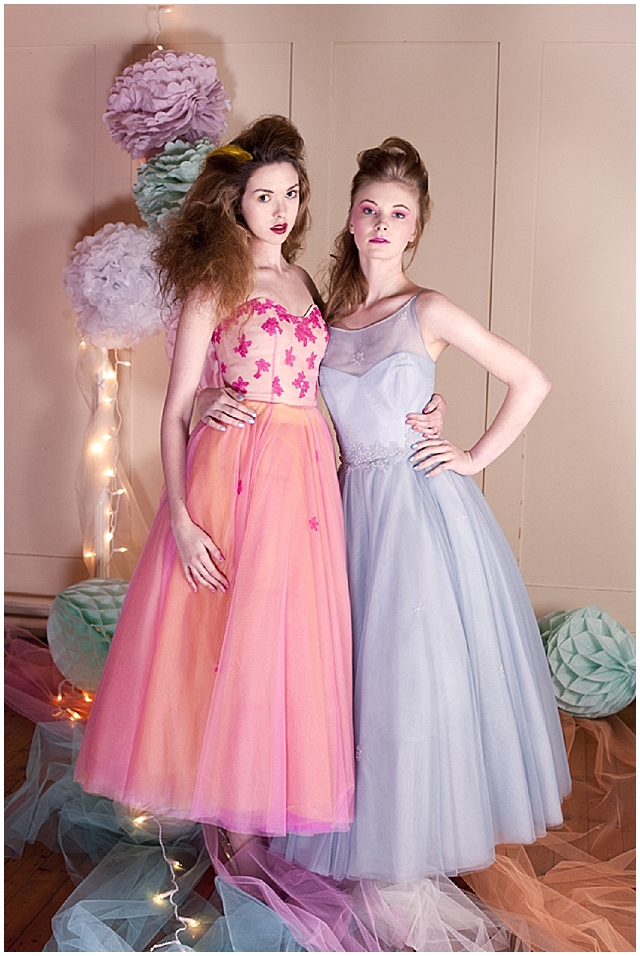 Vintage pastel pop! Different wedding inspiration.