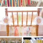 DIY wedding fabric strips ~ chairs
