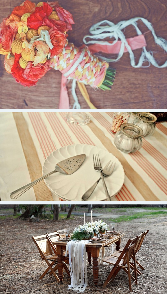 DIY wedding fabric strips ~ ideas1