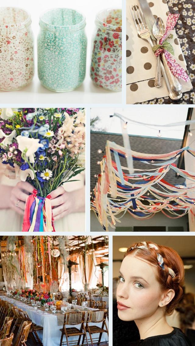 DIY wedding fabric strips ~ ideas2