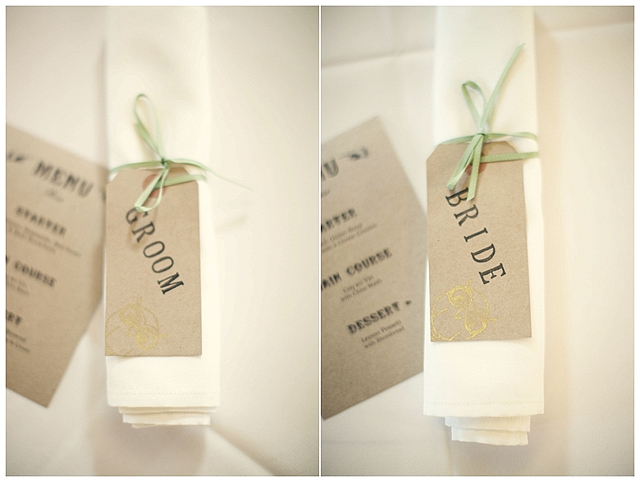 A pale green, gold and cream wedding with owls, a monkey and a girraffe!