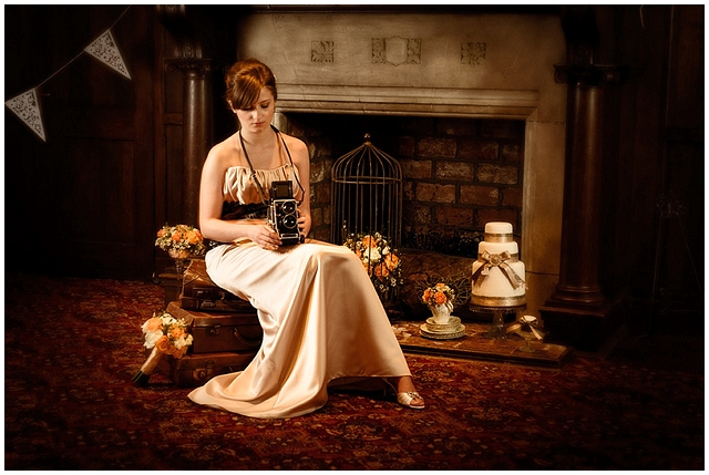 A pretty little bridal shoot with earthy tones and a dash of orange!