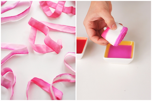 DIY wedding fabric strips ~ ombre