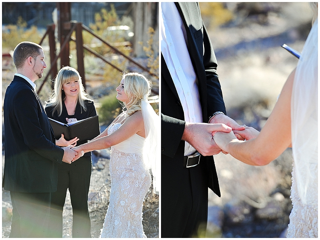 Intimate wedding | quirky little ghost town