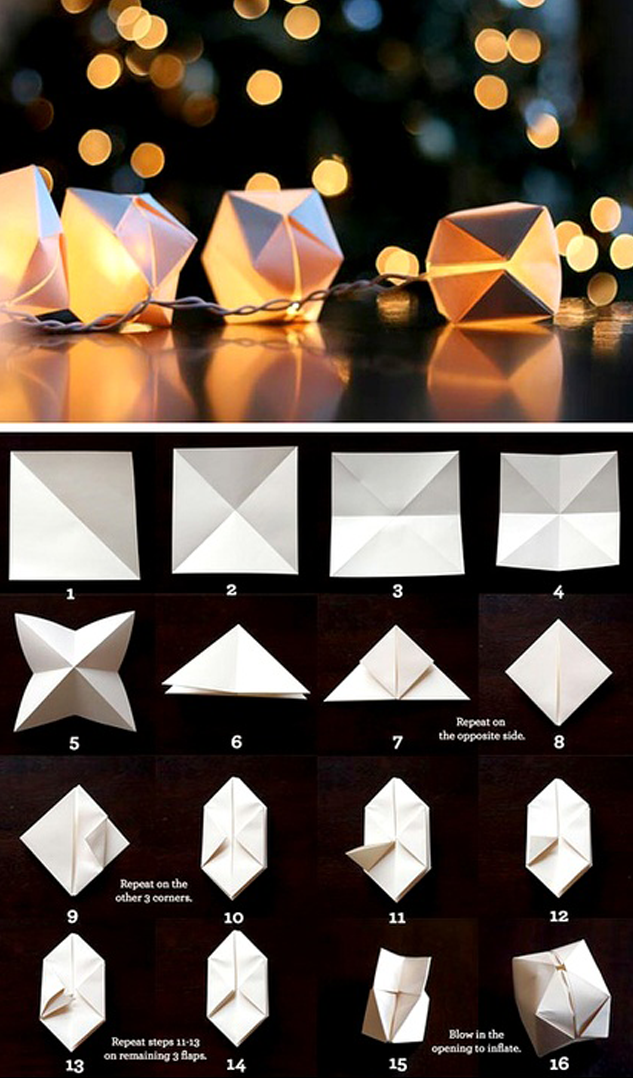 How To Make Origami Flower Fairy Lights