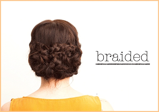 Wedding hair tutorial: braided hair ~ braided bun