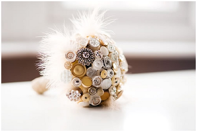 Beaubuttons button bouquets ~ Betsy