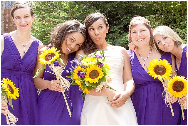 East London: Sunflowers | Real Wedding