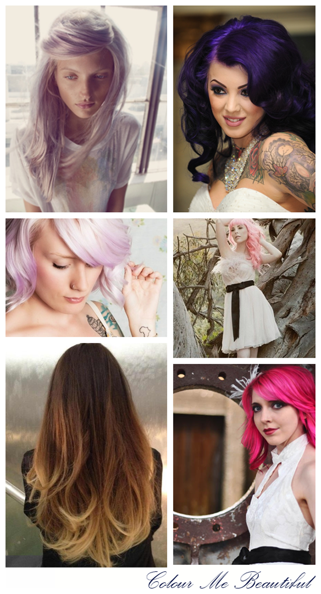Colour me beautiful ~ Rock & Roll Coloured Bridal Hair